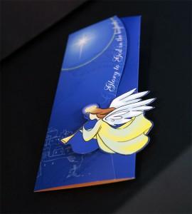 聖誕咭 - 天使(藍)